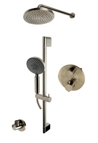 ALFI AB2545-BN Brushed Nickel Round Style 2 Way Thermostatic Shower Set