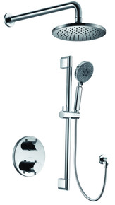 ALFI AB2545-PC Polished Chrome Round Style 2 Way Thermostatic Shower Set