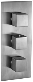 ALFI AB2701-BN Brushed Nickel Square 2 Way Thermostatic Shower Mixer