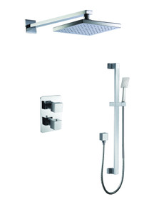 ALFI AB2830-PC Polished Chrome 2 Way Thermostatic Square Shower Set