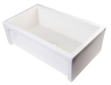"ALFI AB3018ARCH-B 30"" Biscuit Arched Apron Thick Wall Fireclay Single Bowl Farm Sink"