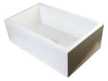 "ALFI AB3018SB-B 30"" Biscuit Smooth Apron Thick Wall Fireclay Single Bowl Farm Sink"