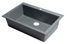 "ALFI AB3020DI-T Titanium 30"" Drop-In Single Bowl Granite Composite Kitchen Sink"