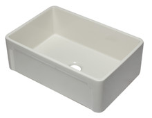 ALFI AB3020SB-B 30 inch Biscuit Reversible Single Fireclay Farmhouse Kitchen Sink