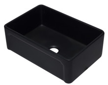 ALFI AB3020SB-BM 30 inch Black Reversible Single Fireclay Farmhouse Kitchen Sink