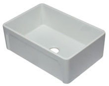 ALFI AB3020SB-W 30 inch White Reversible Single Fireclay Farmhouse Kitchen Sink