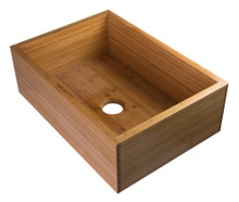 "ALFI AB3021 30"" Single Bowl Bamboo Kitchen Farm Sink"