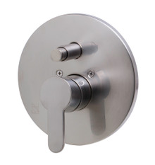 ALFI AB3101-BN Brushed Nickel Shower Valve Mixer with Rounded Lever Handle and Diverter