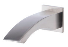 ALFI AB3301-BN Brushed Nickel Curved Wallmounted Tub Filler Bathroom Spout