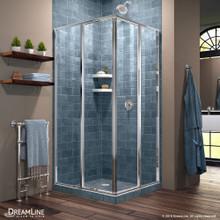 DreamLine Cornerview 40 1/2 in. D x 40 1/2 in. W x 72 in. H Framed Sliding Shower Enclosure in Chrome