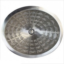 "Linkasink B036 WB Oval Pantheon White Bronze Drop in Undermount Lavatory or Vessel Sink 16.5"" X 13.5"" X 6"" Id"