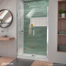 DreamLine Unidoor-LS 42-43 in. W x 72 in. H Frameless Hinged Shower Door in Chrome