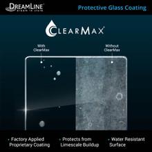 DreamLine Unidoor-LS 46-47 in. W x 72 in. H Frameless Hinged Shower Door with L-Bar in Brushed Nickel