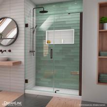 DreamLine Unidoor-LS 51-52 in. W x 72 in. H Frameless Hinged Shower Door in Oil Rubbed Bronze