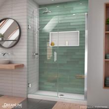 DreamLine Unidoor-LS 48-49 in. W x 72 in. H Frameless Hinged Shower Door with L-Bar in Chrome