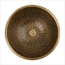 """Linkasink B026 AB Small Round Wing Bowl Drop in Lavatory or Vessel Sink 14"""" X 6.5"""" Od Antique Bronze"""