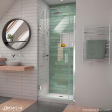 DreamLine Unidoor-LS 29-30 in. W x 72 in. H Frameless Hinged Shower Door in Chrome