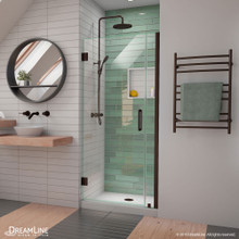 DreamLine Unidoor-LS 32-33 in. W x 72 in. H Frameless Hinged Shower Door in Oil Rubbed Bronze