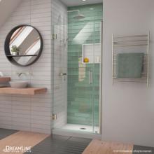 DreamLine Unidoor-LS 33-34 in. W x 72 in. H Frameless Hinged Shower Door in Brushed Nickel