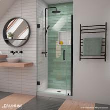 DreamLine Unidoor-LS 34-35 in. W x 72 in. H Frameless Hinged Shower Door in Satin Black