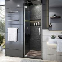 DreamLine Elegance Plus 34-34 1/2 in. W x 72 in. H Frameless Pivot Shower Door in Brushed Nickel