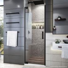 DreamLine Elegance Plus 34-34 1/2 in. W x 72 in. H Frameless Pivot Shower Door in Satin Black
