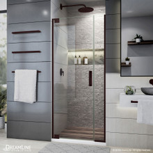 DreamLine Elegance Plus 30-30 3/4 in. W x 72 in. H Frameless Pivot Shower Door in Oil Rubbed Bronze
