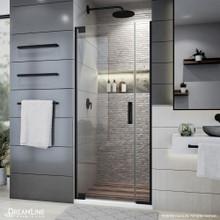 DreamLine Elegance Plus 30-30 3/4 in. W x 72 in. H Frameless Pivot Shower Door in Satin Black