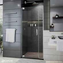 DreamLine Elegance Plus 34-34 3/4 in. W x 72 in. H Frameless Pivot Shower Door in Brushed Nickel