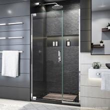 DreamLine Elegance Plus 39 3/4 - 40 1/2 in. W x 72 in. H Frameless Pivot Shower Door in Chrome