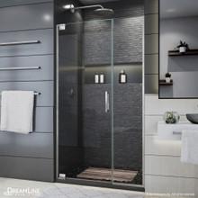 DreamLine Elegance Plus 39 3/4 - 40 1/2 in. W x 72 in. H Frameless Pivot Shower Door in Brushed Nickel