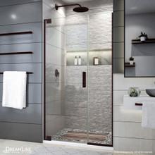 DreamLine Elegance Plus 39 3/4 - 40 1/2 in. W x 72 in. H Frameless Pivot Shower Door in Oil Rubbed Bronze