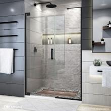 DreamLine Elegance Plus 46-46 3/4 in. W x 72 in. H Frameless Pivot Shower Door in Satin Black