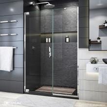 DreamLine Elegance Plus 51 3/4 -52 1/2 in. W x 72 in. H Frameless Pivot Shower Door in Chrome