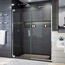 DreamLine Elegance Plus 58-58 3/4 in. W x 72 in. H Frameless Pivot Shower Door in Chrome