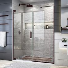 DreamLine Elegance Plus 58-58 3/4 in. W x 72 in. H Frameless Pivot Shower Door in Oil Rubbed Bronze