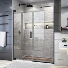 DreamLine Elegance Plus 58-58 3/4 in. W x 72 in. H Frameless Pivot Shower Door in Satin Black