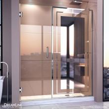 DreamLine Unidoor Mira 58-58 1/4 in. W x 72 in. H Frameless Hinged Shower Door in Chrome