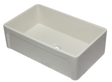 ALFI AB3320SB-B 33 inch Biscuit Reversible Single Fireclay Farmhouse Kitchen Sink