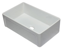 ALFI AB3320SB-W 33 inch White Reversible Single Fireclay Farmhouse Kitchen Sink