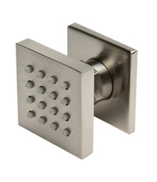 "ALFI AB3820-BN Brushed Nickel 2"" Square Adjustable Shower Body Spray"