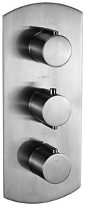 ALFI AB3901-BN Brushed Nickel Round 2 Way Thermostatic Shower Mixer