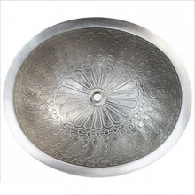 "Linkasink B017 WB Oval Wing White Bronze  Drop in / Undermount Lavatory or Vessel Sink 16.5"" X 13.5"" X 6"" Id"