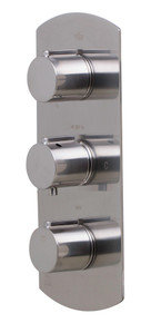 ALFI AB4001-BN Brushed Nickel Concealed 3-Way Thermostatic Valve Shower Mixer Round Knobs