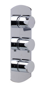 ALFI AB4001-PC Polished Chrome Concealed 3-Way Thermostatic Valve Shower Mixer Round Knobs