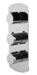 ALFI AB4101-PC Polished Chrome Concealed 4-Way Thermostatic Valve Shower Mixer /w Round Knobs