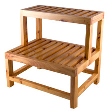 "ALFI AB4402 20"" Double Wooden Stepping Stool Multi-Purpose Accessory"