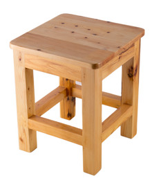 "ALFI AB4407 10""x10"" Square Wooden Bench/Stool Multi-Purpose Accessory"