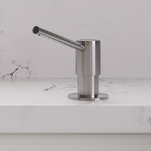 ALFI AB5006-BSS Modern Round Brushed Stainless Steel Soap Dispenser