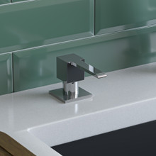 ALFI AB5007-PSS Modern Square Polished Stainless Steel Soap Dispenser
